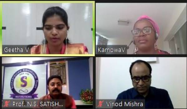 Panelists at a webinar on menstrual Health and Hygiene
